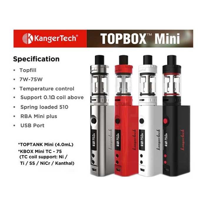 Kangertech Topbox Mini Инструкция Настройка - фото 2